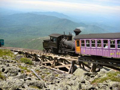 Mount Washington Cog Railway is a great things to do when in New Hampshire. Get breathtaking views at the summit.