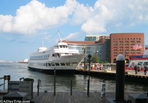 A dinner cruise out on Boston Harbor