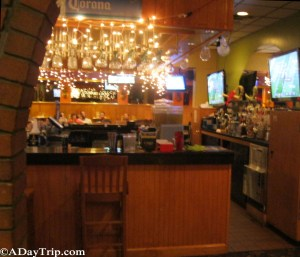 Bar area decor at Fiesta Mexican Restaurant