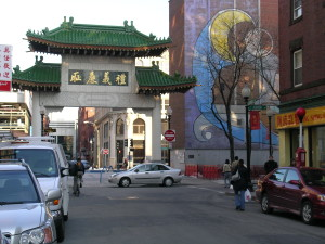 The Paifang marking the entrance of Chinatown in Boston