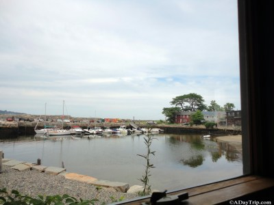 view of the water and boats from the restaurant