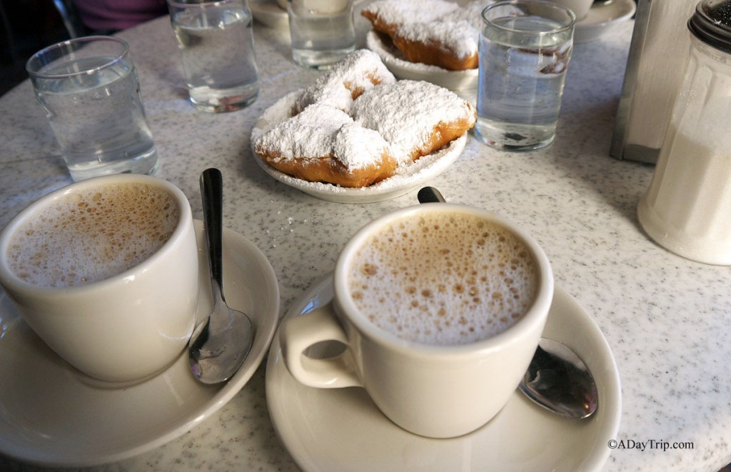 Coffee and beignets at cafe du monde