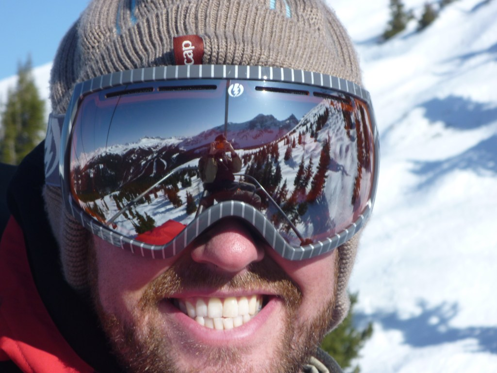 Wear ski goggles while biking in the winter