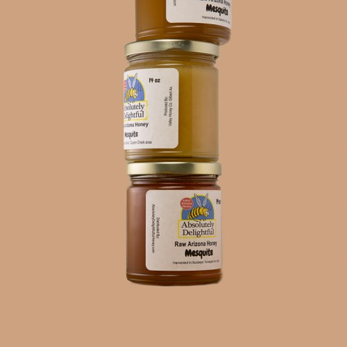 Stack of Mesquite Honey Jars