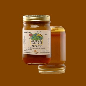 Liquid Turmeric Ginger and Wild Orange Oil Infused Honey
