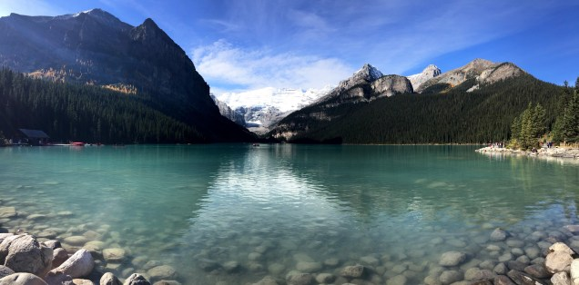 The beautiful Lake Louise in Banff National Park.