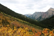 Beautiful scenery on the Lower & Upper Rowe Lake trail in Waterton Lakes National Park.
