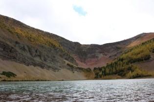 Upper Rowe Lake in Waterton Lakes National Park.
