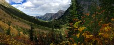Beautiful scenery on the Lower & Upper Rowe Lake trail in Waterton LakesNational Park.