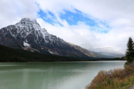 Mount Cephren along the Icefields Parkway.