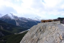Glacier Skywalk building along the Icefields Parkway.