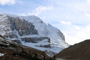 Mount Andromeda in the Columbia Icefield along the Icefields Parkway.