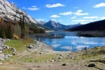 Medicine Lake in Jasper National Park.