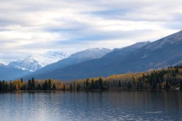 Pyramid Lake in Jasper National Park