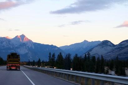 Exiting Jasper National Park on our way to Edmonton, Alberta.