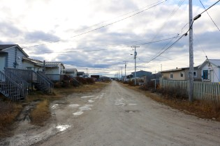 The quiet streets of Churchill, MB