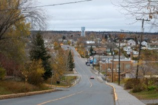 The hilly streets of Flin Flon, MB
