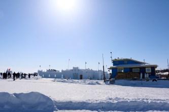 Snowking Castle from the gates of the Long John Jamboree