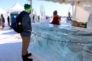 Adam getting served at the ice bar