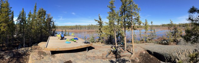 Scoping out the best camp sites at Fred Henne Territorial Park