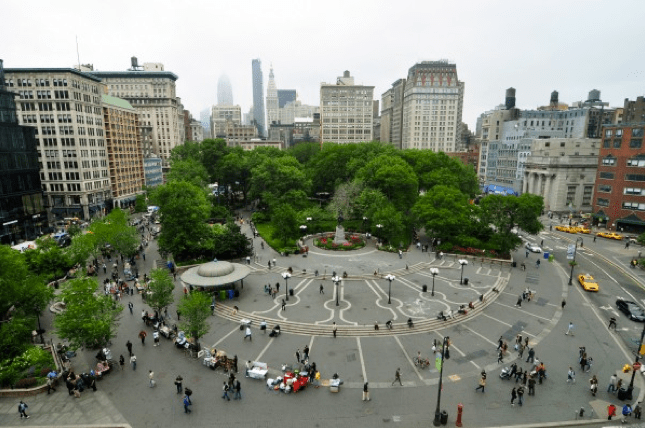 Union Square em Nova York, EE.UU. Via Wikimedia
