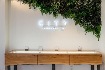 City Cannabis Retail Store Display