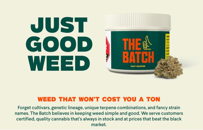 The Batch cannabis ad