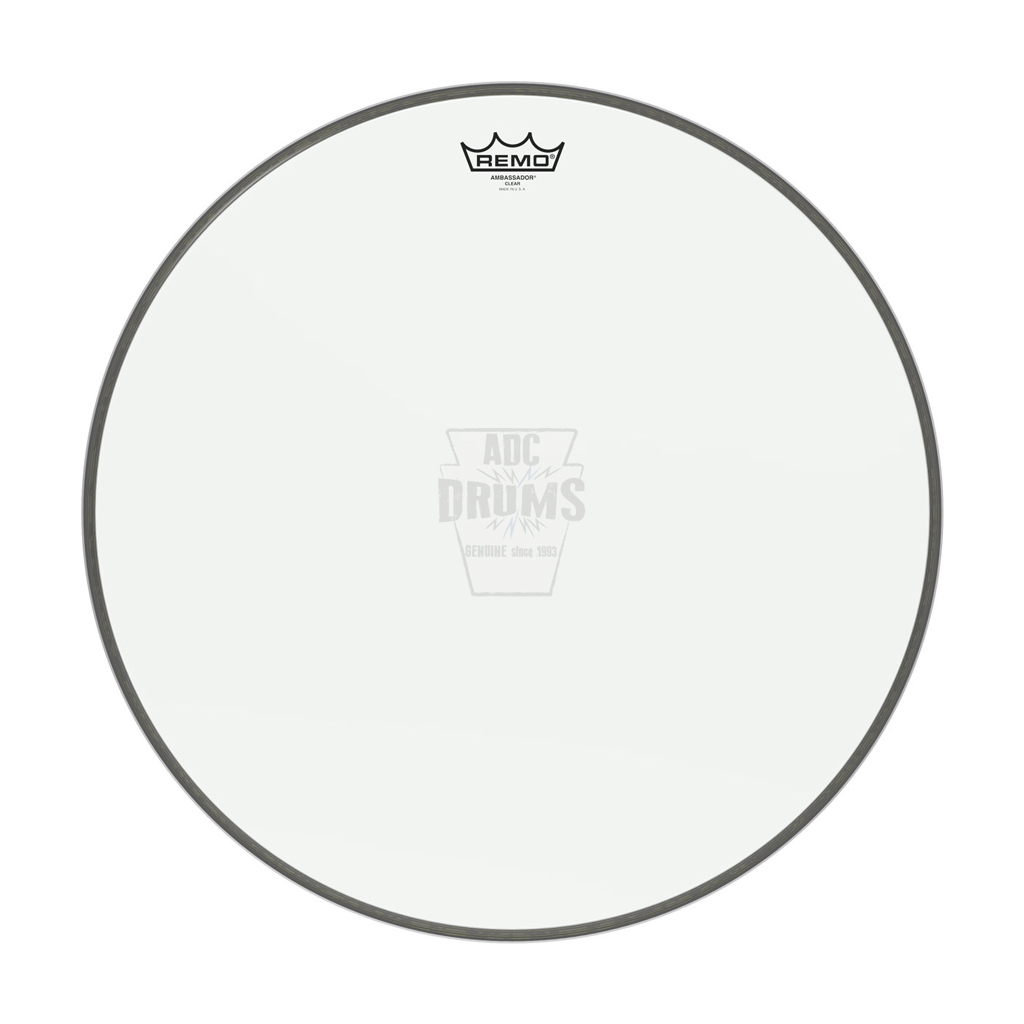 Remo 24 Clear Ambassador Bass Drum Head