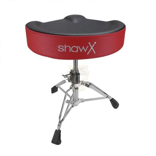 Shaw-Motorcycle-Saddle-black-red-Drum-Throne-rear