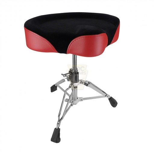 Shaw-Motorcycle-Saddle-red-vinyl-cloth-top-Drum-Throne