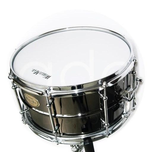 WorldMax-Black-Brass-Snare-Drum-top-view