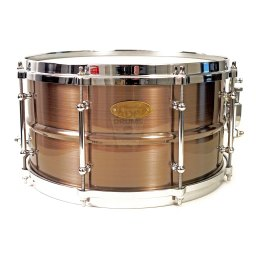 WorldMax-brushed-red-Copper-14x65-Snare-Drum