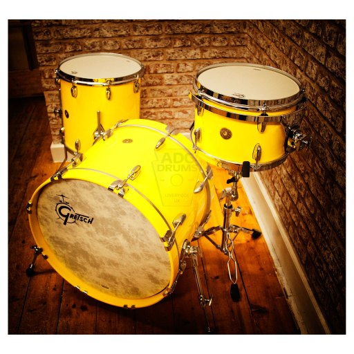 Gretsch BroadKaster canary yellow shell-pack