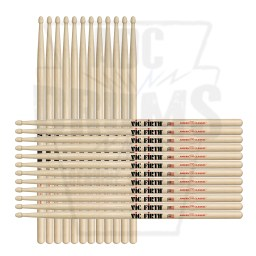Vic Firth 8D Hickory Wood Tip American Classic Drum Sticks
