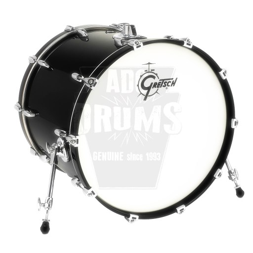 "Gretsch Renown Bass Drum: 18"" x 14"" in Piano Black"