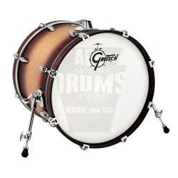 "Gretsch Renown Bass Drum: 18"" x 14"" in Satin Tobacco Burst"