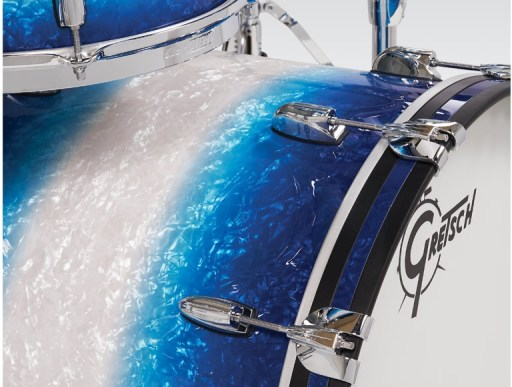 Gretsch Brooklyn Blue Burst Pearl Shell-Pack Bop sizes 1