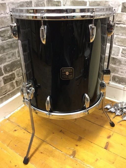 Vintage Gretsch Drums, 1980s USA Shell-Pack, Nitron Black 1