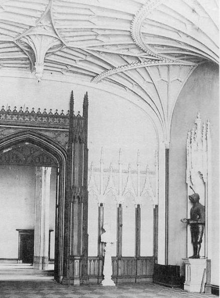 Gothic hall at Crawford Priory c. 1880 Copyright: www.rcahms.gov.uk