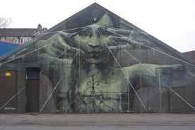 One of Recoat In Common project murals near Ibrox stadium