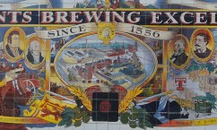 Tennents Brewery mural - detail