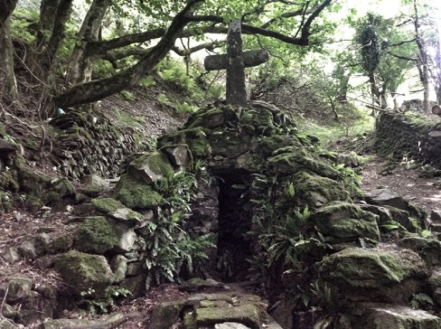 Sister's Fountain: deep in the woods, said to give Joseph of Arimathea some refreshment when on his way to Glastonbury