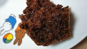 チョコマフィンでしっとり濃厚レシピ 焼きたての生地の状態