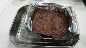 失敗生チョコからガトーショコラ 焼き上がったところ