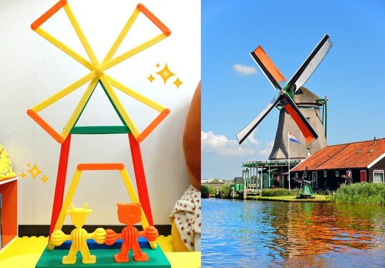 力豆力豆 | 教你用四色扣條做出荷蘭風車!(影片)