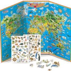 世界印象地圖磁鐵書