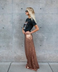Cute Maxi Skirt Outfits To Impress Everybody12