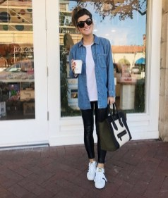 Cute Outfits Ideas With Leggings Suitable For Fall02