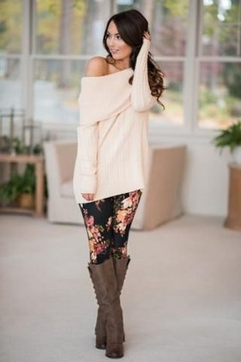 Cute Outfits Ideas With Leggings Suitable For Fall07