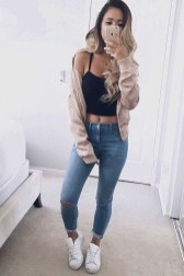 Easy And Cute Summer Outfits Ideas For School04